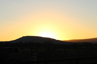 A beautiful sunset in the Burren - total Hygge